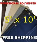 5' x 10' Workhorse Polyester Waterproof Breathable Canvas Tarp