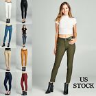 Active basic New Women Skinny Pants Cigarette Formal Trouser
