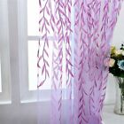 leaf design curtains - Leaves Design Sheer Room Curtain Print Pattern Voile Panel Drape Window Curtains