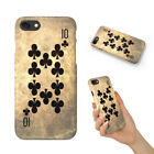 TEN 10 OF CLUBS PLAYING CARDS HARD PHONE CASE COVER FOR APPLE IPHONE
