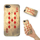 NINE 9 OF DIAMONDS PLAYING CARDS HARD PHONE CASE COVER FOR APPLE IPHONE