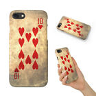TEN 10 OF HEARTS PLAYING CARDS HARD PHONE CASE COVER FOR APPLE IPHONE