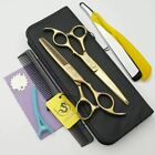 Japan hair cutting scissors Gem screw 6.0 inch professional barber hairdressing