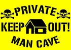 Personalised MAN CAVE Mylar stencil with your name,125/190 micron A5/A4/A3 sizes