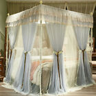 romantic netting stainless steel frames bed canopy mosquito net queen 2 PLY king