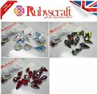15pcs Authentic Swarovski 6000 Teardrop Pendants - Please select colour