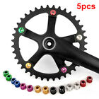 UK 5pcs Alloy Cycling Aluminum Single Crank Chain Ring Bolt Fit for Road Bicycle