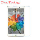2X 9H Tempered Glass Cover Screen Protector For LG G Pad F X 8.0 V521 V495 10.0