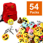 "54/36/18Emoji Smiley Stuffed Plush Toy 2""KEY CHAIN Emoticon Yellow Soft Cushion"