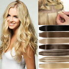100g Tape In THICK Glue 100% Remy Human Hair Extensions FULL HEAD 16-24Inch J333