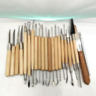 22PCS/Set Pottery Clay Wax Sculpting Polymer Modeling Carving Tool Craft DIY Kit image