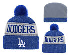 New Era MLB Los Angeles Dodgers Beanie Cuffed Winter Knit Cap w/Pom