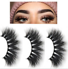 3D Mink Eyelashes 1/5 Pairs natural l False Long Thick Hand Made Lashes Makeup