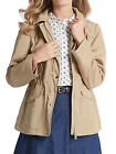 NEW M&S MARKS & SPENCER BEIGE HARRINGTON HOODED JACKET  WITH STORMWEAR 12-18