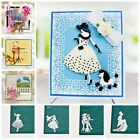 Crafts - Lady Metal Cutting Dies Stencil Scrapbooking Embossing Crafts Greeting Letter