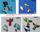 3 ASSORTED BIRDS - CERAMIC MOSAIC TILES for your project ( Pick you Group ) #7