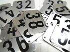 You Pick 1-40 Aluminum NUMBER Stadium Seat Locker TAGS PLATES 6D,7B,8C