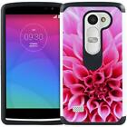 For LG Leon / Risio / Tribute 2 / Power / Destiny Slim Hybrid Case Phone Cover