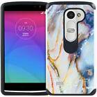 For LG Leon / Risio / Tribute 2 / Power / Destiny Marble Design Case Phone Cover
