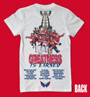 Washington Capitals Stanley Cup Champions 2 SIDED SHIRT - Ovi ALL CAPS WOW !!!! $19.99 USD on eBay