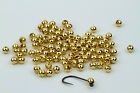 25 Tungsten Slotted Fly Tying Beads / Gold - Various Sizes
