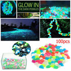 200pcs Glow In The Dark Pebbles Stones Home Garden Walkaway Aquarium Fish Tank