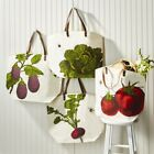 Two's Company Farmers Market Jute Tote Bag Eco Friendly CHOOSE STYLE NEW