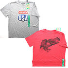Galt Mens Patriotic USA Eagle Graphic Short Sleeve Crew Neck Tee T Shirt