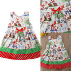 Toddler Kids Baby Girls Sleeveless Floral Dress Party Clothes Summer Sundress UK