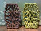 Cast Iron Scroll Soap Business Card Dish Sponge Holder Home Kitchen Bath Decor