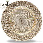 Fantastic:)™ Round 13Inch Charger Plate With Shiny Finish ( Peacock Pattern )