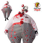 Adults Inflatable Creepy Clown Horror Scary Circus Halloween Fancy Dress Outfit