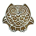 Owl Decorative Wooden Block Hand Carved Printing Blocks Indian Stamp 2 x 1