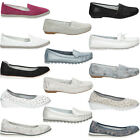 NEW Womens Shoes Ballerina Leather Moccasins Ladies Slipper Flat Shoe SIZE