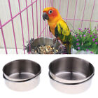 Stainless Steel Cage Coop Clamp Bolt Cup Bird Dog Food Water Bowl