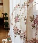 Custom French Country Cottage Shabby Chic Embroidery Net Sheer Curtain One Panel