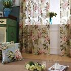 Custom French Country Cottage Shabby Chic Rose Sheer Voile Net Curtain Panel