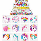UNICORN Temporary Tattoos Girls Boys Kids Party  Bag Fillers - Choose Quantity