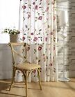 Custom French Country Cottage Floral Embroidery Net Tulle Sheer Curtain Panel