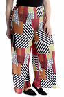 New Women Plus Size Palazzo Trouser Ladies Abstract Print Pants Wide Leg Bottoms