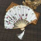 1pcs New Chinese with Gift bag Lace Edge Plum Blossom Hand Held Fabric Fans Birt