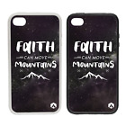 Faith Can Move Mountains - Rubber and Plastic Phone Cover Case #1 - Stars Sky