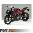 BMW S1000RR BLACK AND RED (AE181) - Photo Picture Poster Print Art A0 to A4
