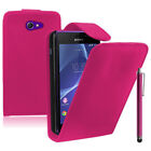 Faux Leather Phone Protective Case with Cover for Sony Xperia M2/M2 Dual D2303