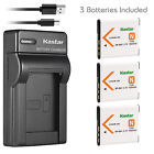 Kastar Battery Slim Charger for Sony NP-BN1 BC-CSN & Sony Cyber-shot DSC-TX20