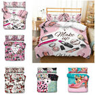 Novelty 3D Makeup High Heeled Shoes Bedding Set Of Duvet Cover & Pillowcase image