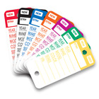Plastic Key Tags Genuine Versa-Tag TOP STRIPE Key Tag 250 per Box w/ Marker
