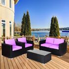 Home Garden Patio Rattan Patio Outdoor Wicker Furniture Set With Cushions Us