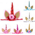 Hot Girl Unicorn Flower Head Party Hairband Headband Fancy D