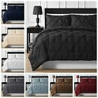 Elegant Durable Stitching 3-piece Full Queen & King Pinch Pleated Comforter Set